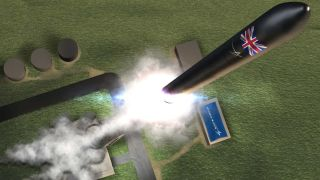 An artist's impression of take off from the new spaceport site