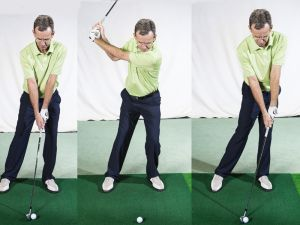 what is a stack and tilt golf swing?