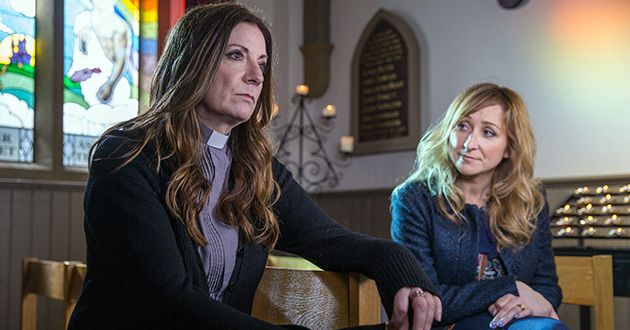 Harriet Finch confides in Laurel Thomas about her doubts in herself after everything with Cain Dingle, and suggests she wants to leave the church but will she in Emmerdale