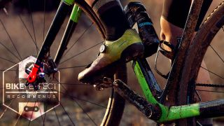Shimano RX8 gravel bike shoe in action on the trails