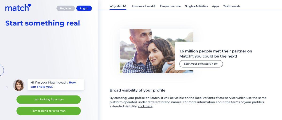 match online dating service sköld padda man singel