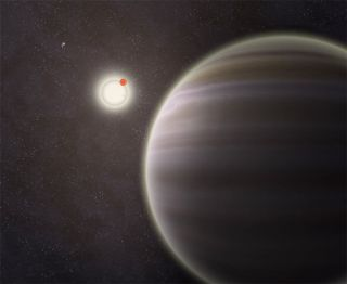Alien planet with two suns found in four-star system.