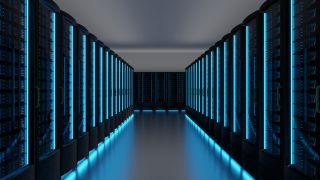 Futuristic Data Center Server Room