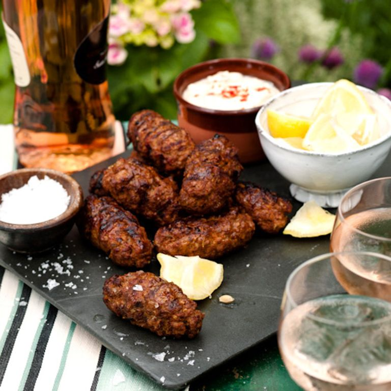 Homemade sausages with Spiced Mint Yogurt recipe-recipe ideas-new recipes-woman and home
