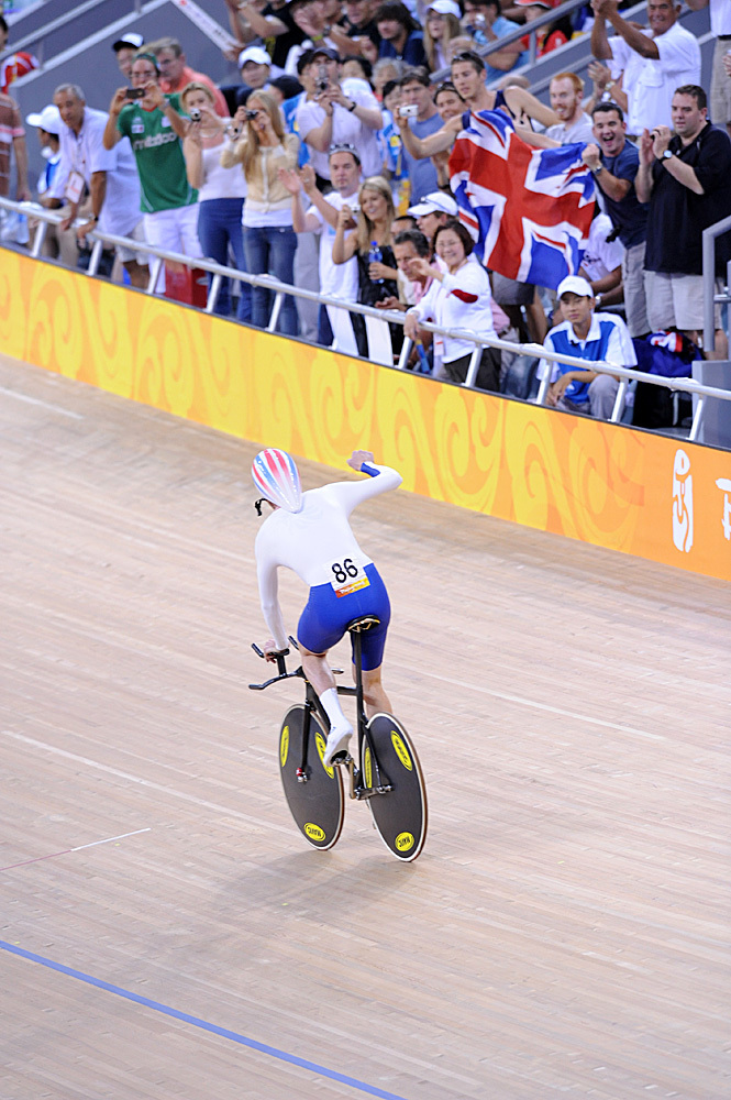 Bradley Wiggins celebrates Olympic Games 2008