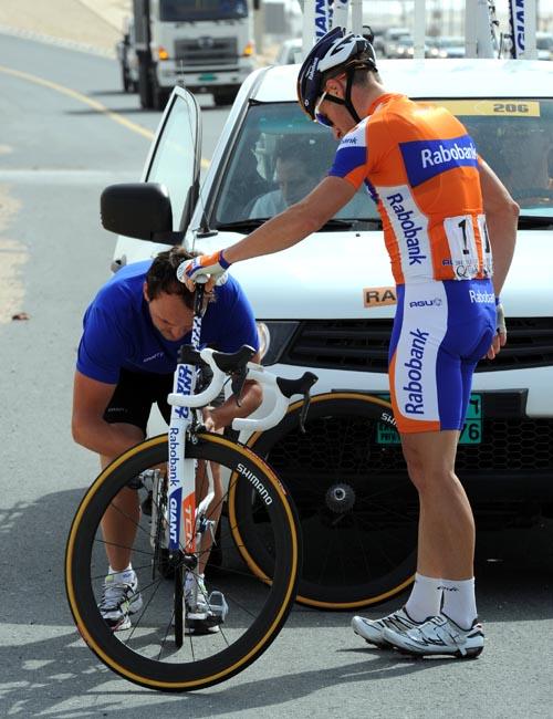 Mark Renshaw, Tour of Qatar 2012, stage three