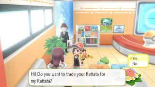 Communicate lets go pokemon option trade