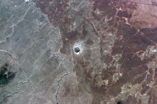 Barringer Impact Crater in Arizona Seen from Space