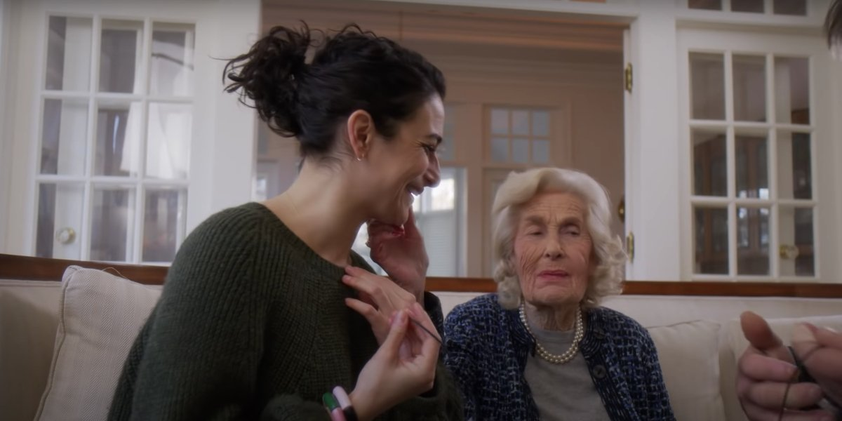 Jenny Slate and her Nana Connie in Stage Fright