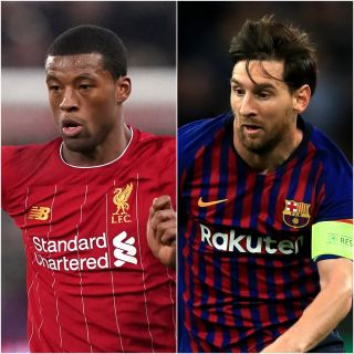 Georginio Wijnaldum and Lionel Messi