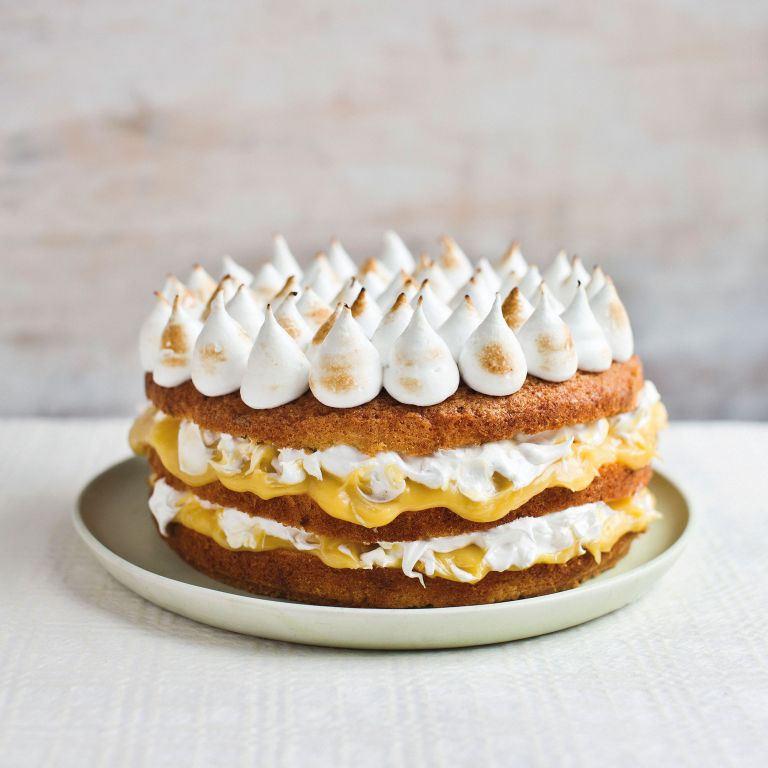 Dairy Free Lemon Meringue Cake