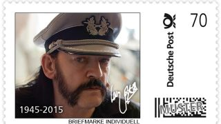 One of the German stamps featuring Lemmy