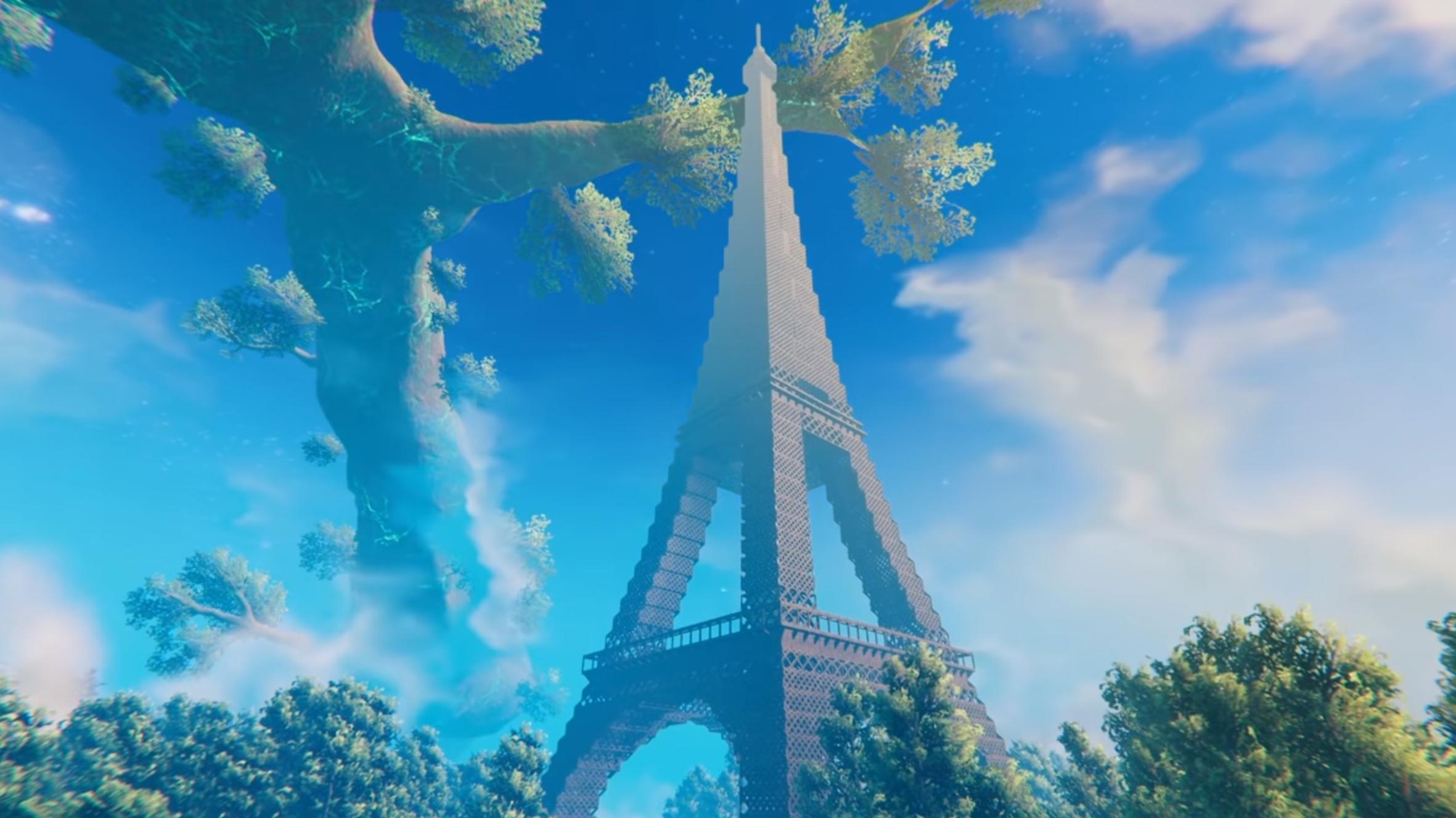 Valheim players use 40,000 blocks to build a massive Eiffel Tower