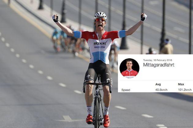 16 February 2016 7th Tour of Oman Stage 01 : Oman Exhibition Center - Al Bustan 1st : JUNGELS Bob (LUX) Etixx - Quickstep Photo : Yuzuru SUNADA