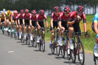 Team Ineos in action at the 2019 Tour de France