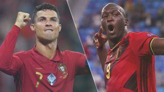Belgium vs Portugal live stream at Euro 2020 —Cristiano Ronaldo of Portugal and Romelu Lukaku of Belgium
