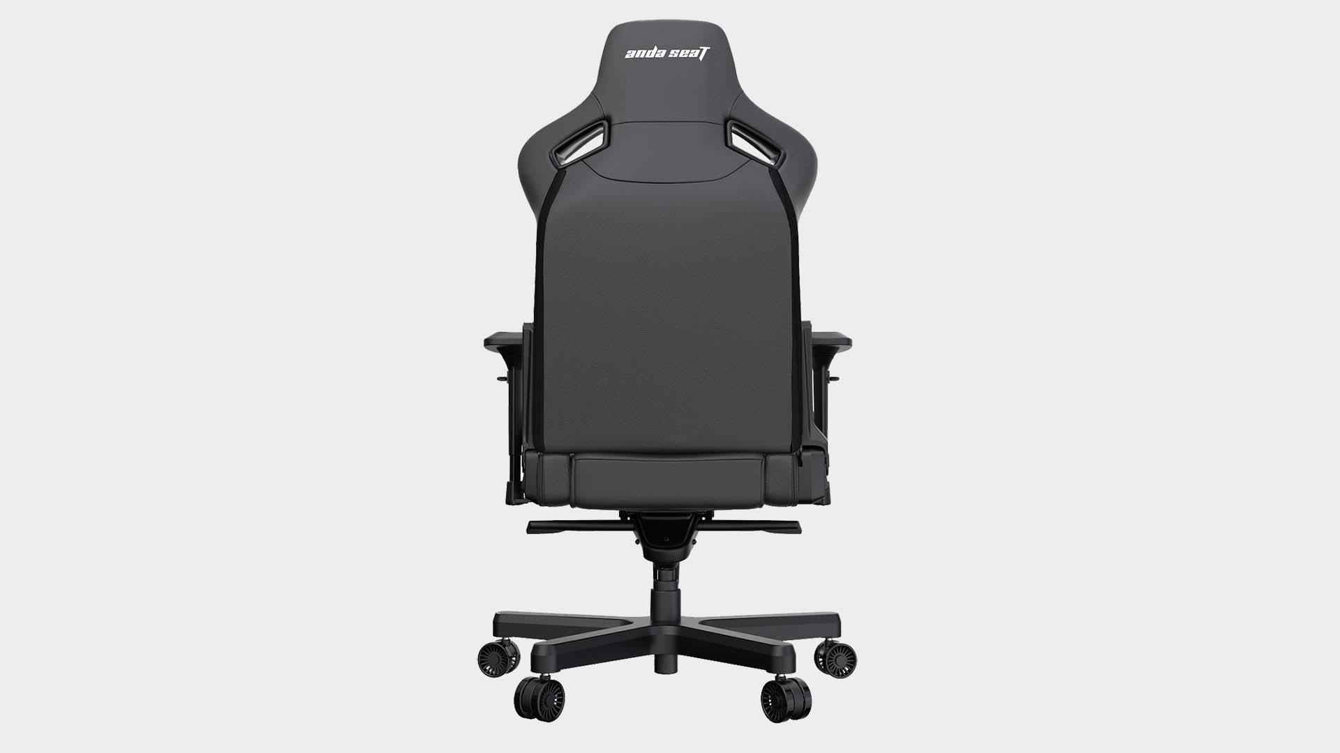 Andaseat Kaiser II gaming chair from various angles on a grey background