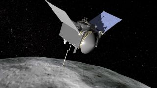 OSIRIS-REx Sampling Asteroid Bennu