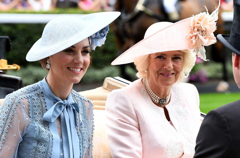 duchess kate middleton camilla matching festive outfits
