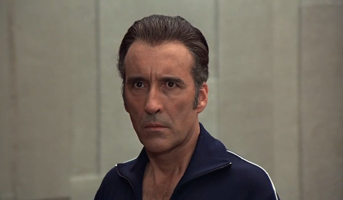 The Man With The Golden Gun Christopher Lee prepares for his next kill
