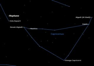 Neptune, the most distant planet in the solar system, is in opposition in Aquarius on August 22, but you can find it most easily starting from Capricornus.