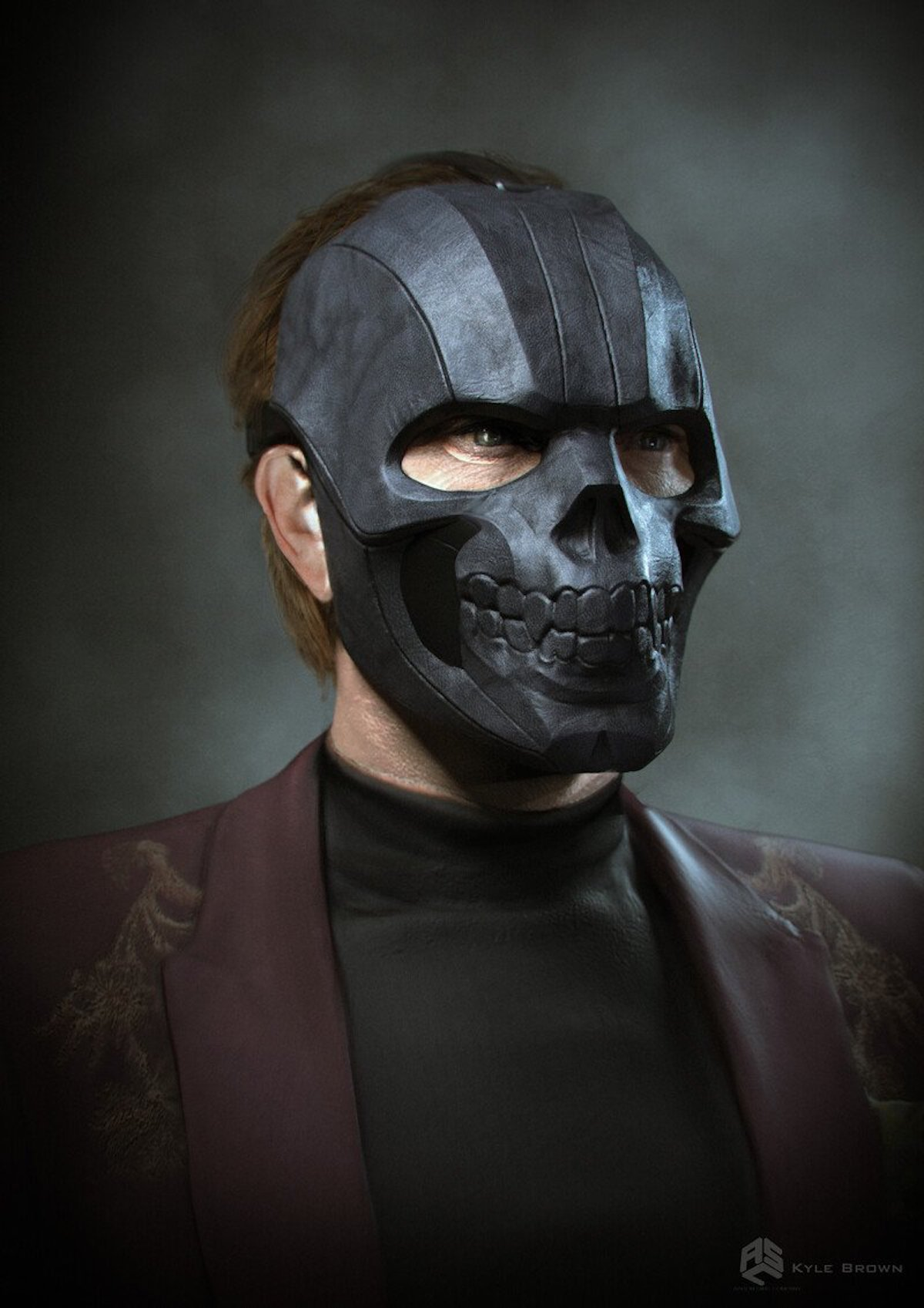 Black Mask concept art Birds of Prey
