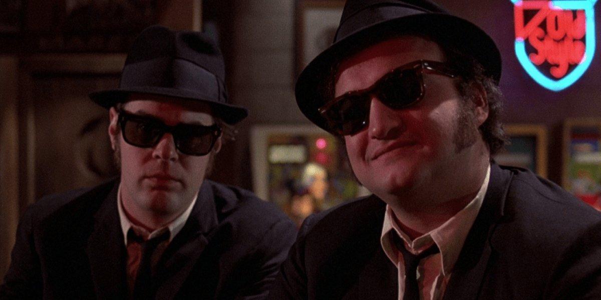 Dan Aykroyd and John Belushi in The Blues Brothers
