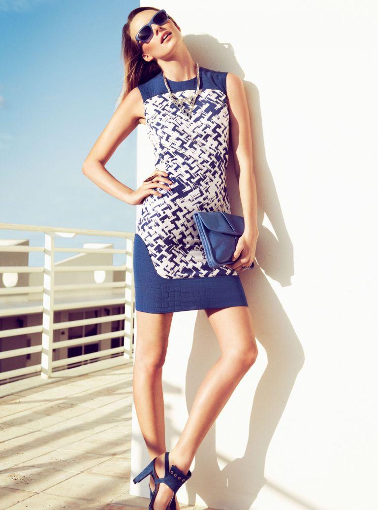 Photo of model wearing shift dress