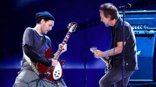 [L-R] Josh Klinghoffer and Eddie Vedder