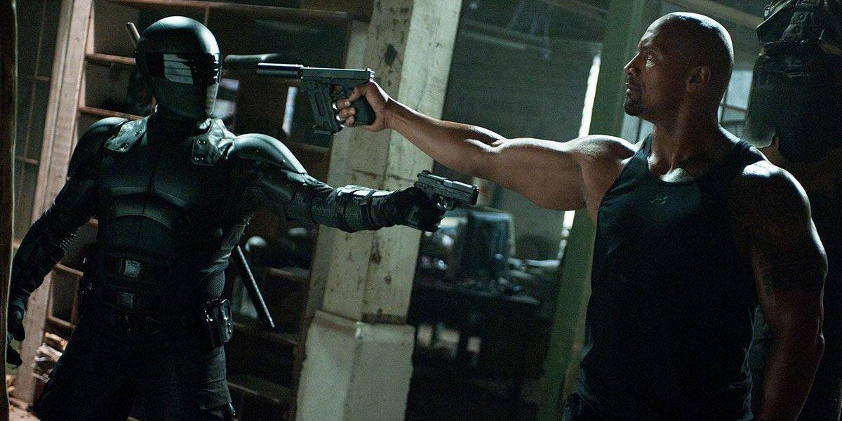 Ray Park and Dwayne Johnson in G.I. Joe Retaliation
