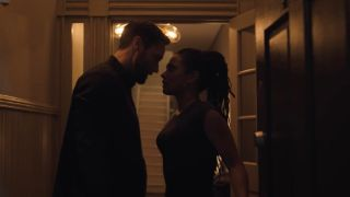 Ryan Eggold as Dr. Max Goodwin and Freema Agyeman as Dr. Helen Sharpe in New Amsterdam.
