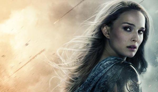 Natalie Portman on Thor poster