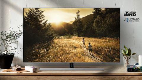 A photo of the Samsung NU8000 TV in-situ