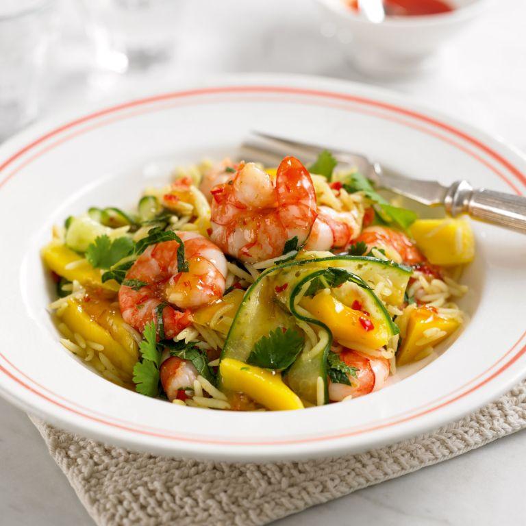 quick recipes-Prawn-mango-rice salad-Woman&home
