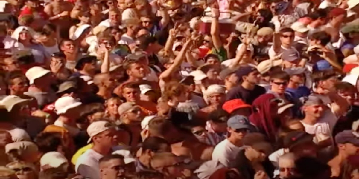 The crowd at Woodstock '99