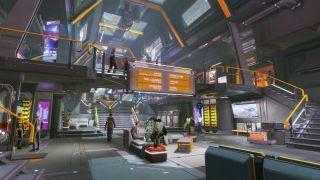 A space terminal