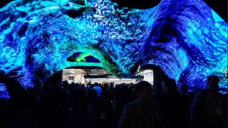 A celebrated CES tradition is continuing this year from LG Electronics with the LG OLED Wave, the latest exhibition welcoming visitors into the company's CES booth.