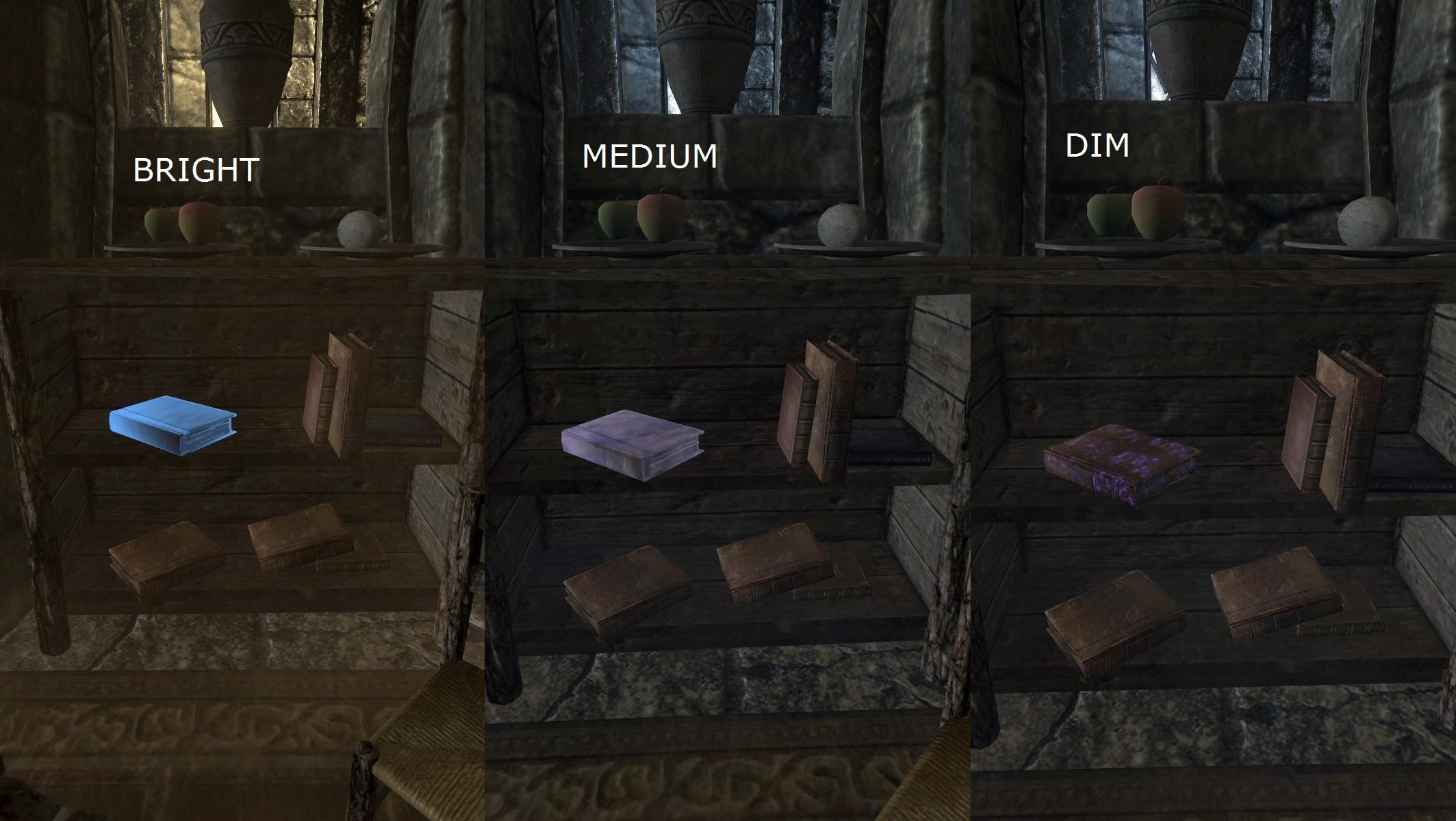 the best skyrim mods: unread books glow