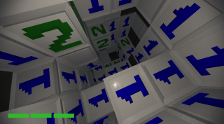 Minesweeper, reimagined as a first person clicker.
