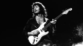 Ritchie Blackmore on stage with Deep Purple