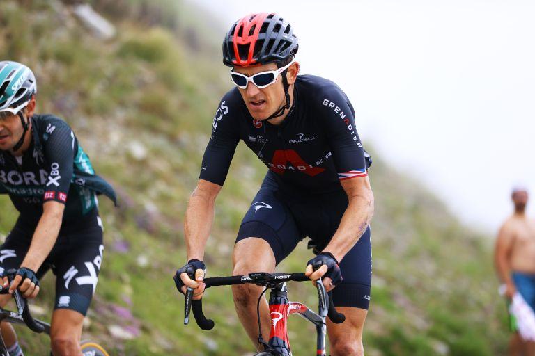 Geraint Thomas riding stage 17 of the Tour de France 2021