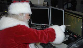 santa claus, christmas, technology, tracking Santa