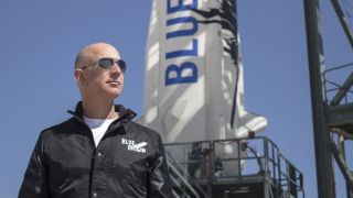 Founder Jeff Bezos has announced he and his brother will be among the passengers of Blue Origin's first crewed flight.