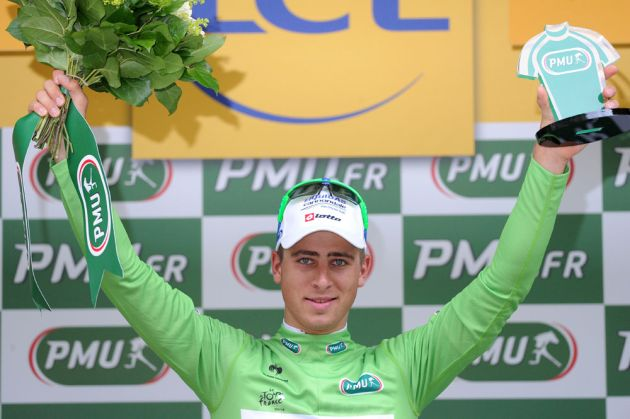 Peter Sagan, green jersey, Tour de France 2012, stage two