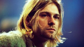 Nirvana's Kurt Cobain during the taping of MTV Unplugged
