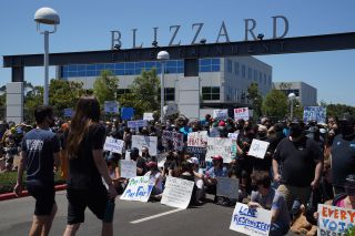 Protest at Activision Blizzard