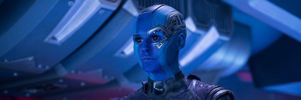 Karen Gillan's Nebula in Guardians of the Galaxy Vol. 2