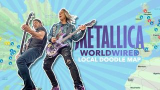 Rob Trujillo and Kirk Hammett of Metallica