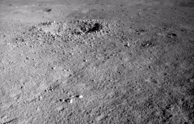Yutu-2 found a strangely-colored substance in a crater on the far side of the moon.