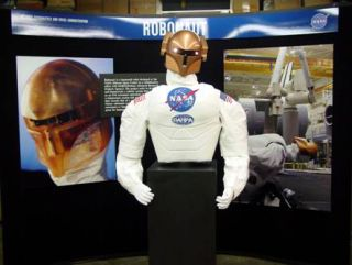 NASA's Robonaut appearing among the exhibits at Holloman Air & Space Expo and other venues.